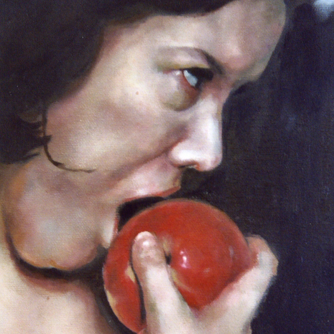 Eve (crop) (oil on canvas) 102x60cm
