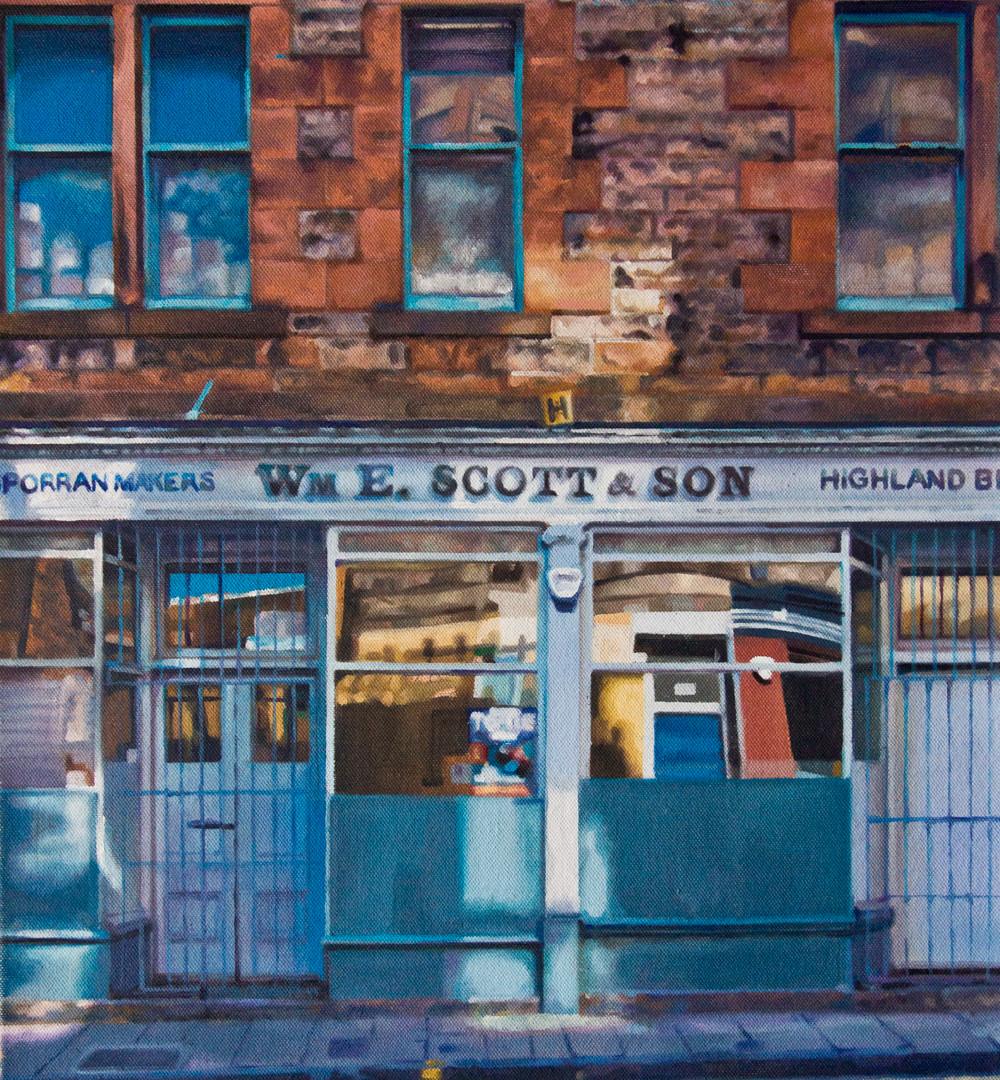 W.E Scott & Son (oil on canvas) 50x60