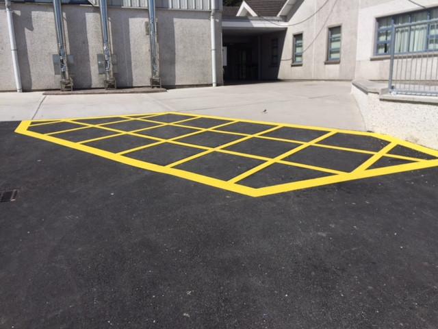 Line marking yellow paint
