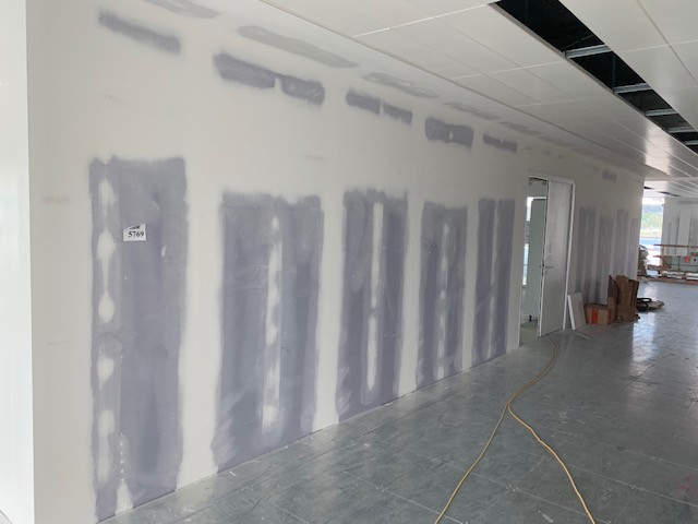 Office interior pre paintwork
