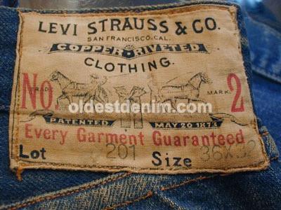 1910 - 1920 Levi's 201 denim pant