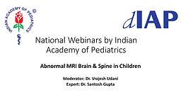Abnormal MRI Brain & Spine in Children