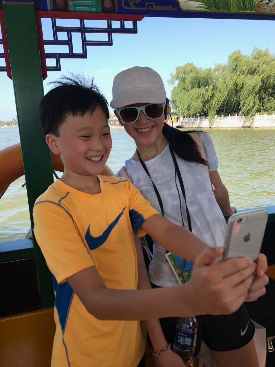 Taking a selfie in China; summer 2017
