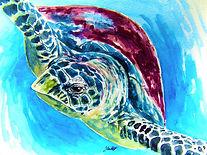 Leatherback Sea-Turtle - Water-colour pa