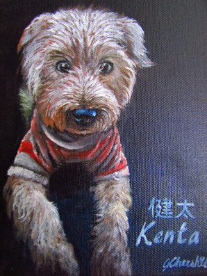 Oil on A5 size canvas - commission work.