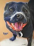 'Digger' pet portrait commission-soft-pa