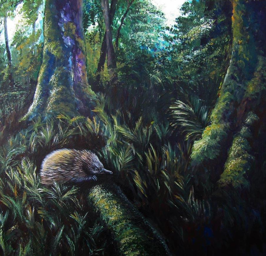 Short-beaked Echidna - Acrylic on canvas