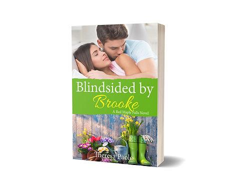 Signed paperback of Blindsided by Brooke