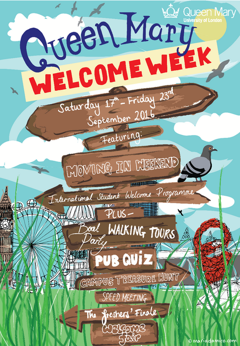 Welcome week 2016 poster