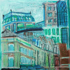 Spitalfields #oilpastels
