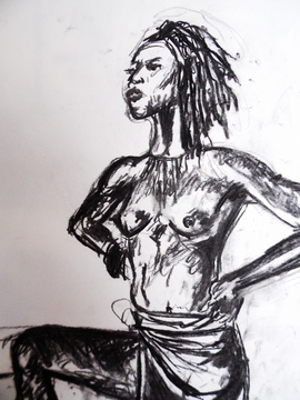 Life drawing at The Book Club LND