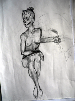 Life drawing @ The Book Club, LND