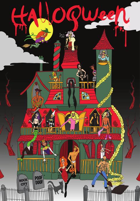 Halloqueen poster
