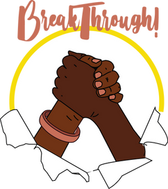 BreakThrough! Logo (The Bangladeshi Women's Careers Group QMUL)