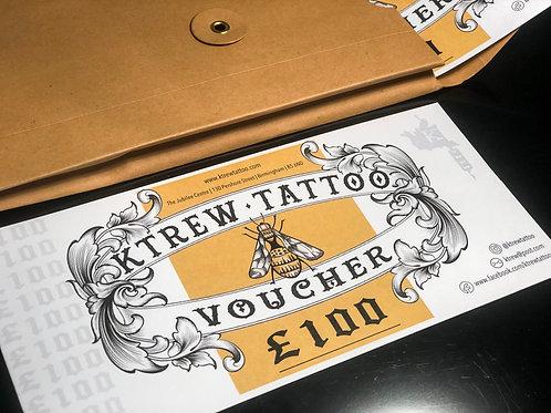 £100 Tattoo Gift Voucher
