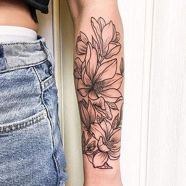 magnolia linework tattoo.JPG