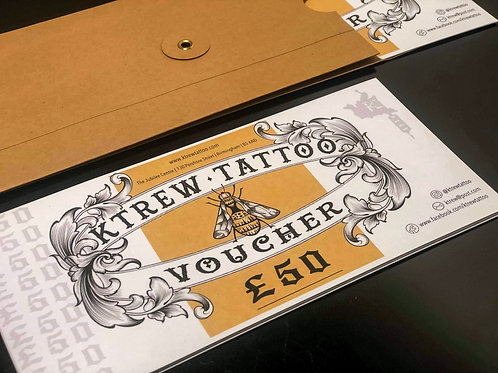 £50 Tattoo Gift Voucher