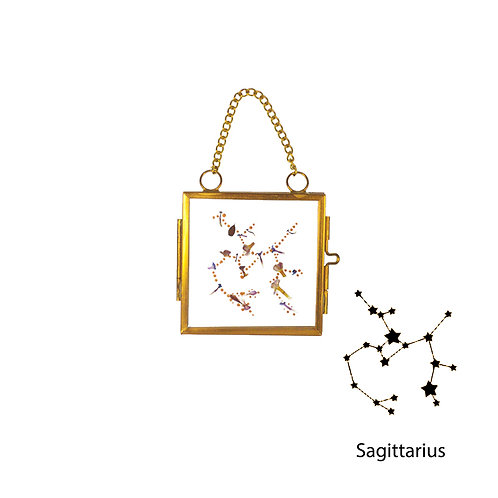 Sagittarius Constellation Handmade Mini Glass Hanging Frame