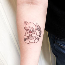 stick and poke red panda tattoo.JPG