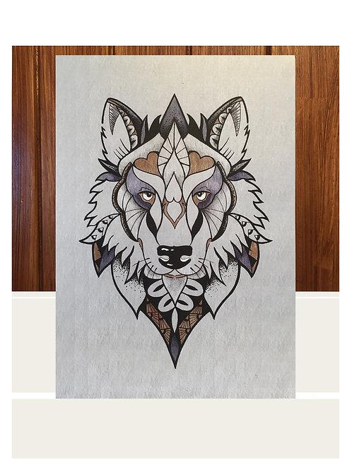 Iridescent Wolf Art Print
