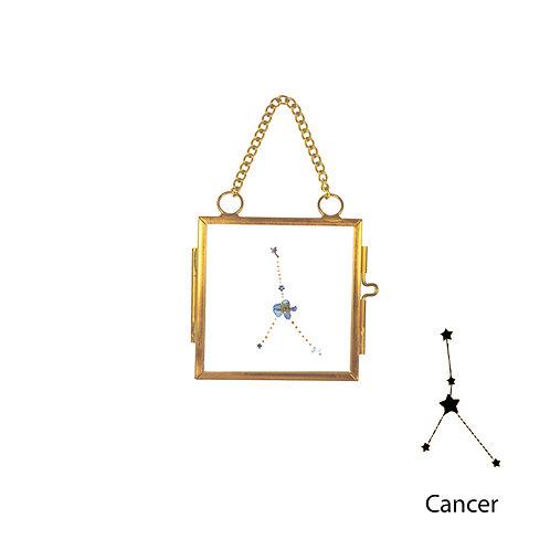 Cancer Constellation Handmade Mini Glass Hanging Frame