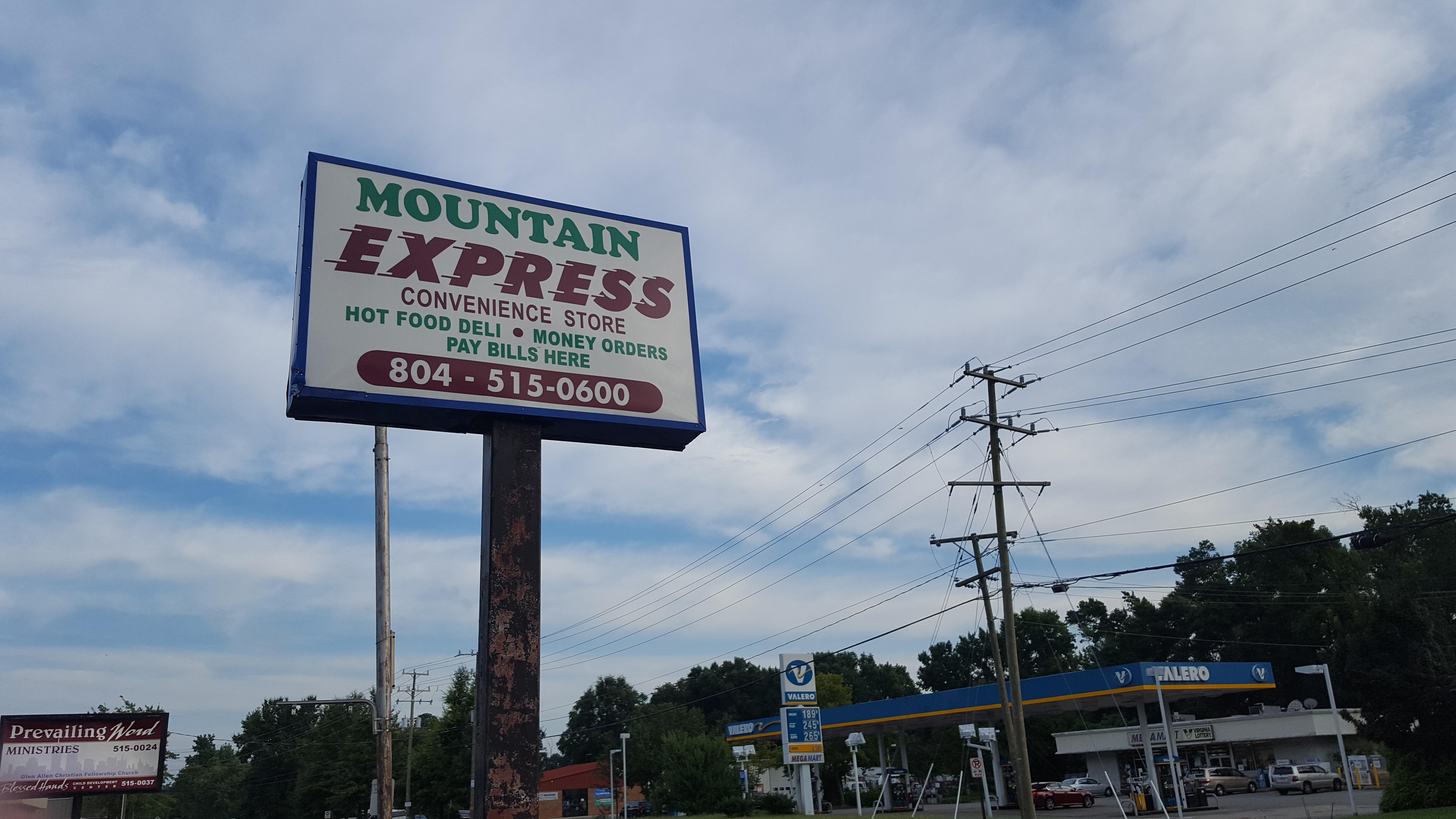 Mountain Express Sign