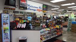 Inside Exxon Gas Station