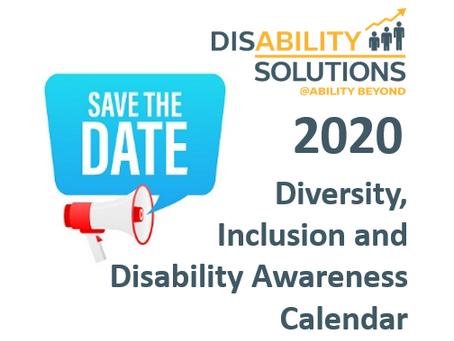 2020 Diversity, Inclusion and Disability Awareness Calendar