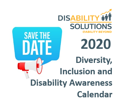 Save the date - 2019 Disability Inclusion Awareness Calendar