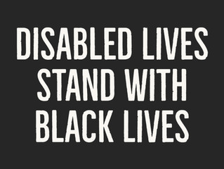Disabled Lives Stand with Black Lives