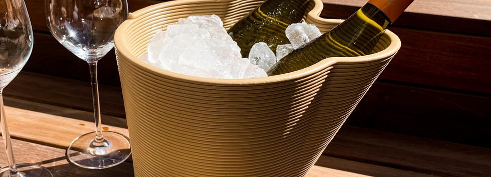 Festicoolr Double beige met ijs en olijfjes