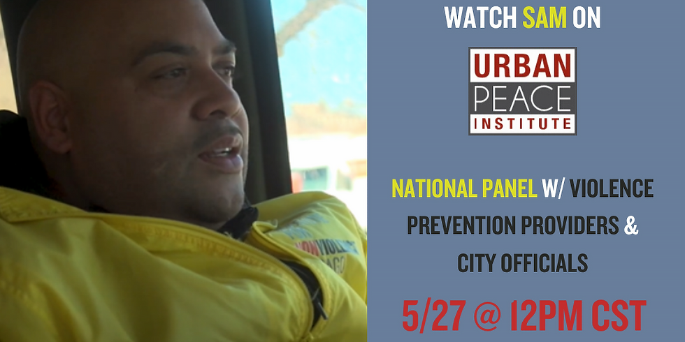 National Panel on Street Outreach hosted by The Urban Peace Institute