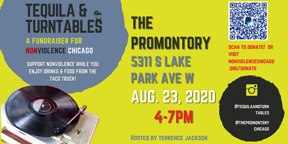 Tequilla & Turntables: A Fundraiser for Nonviolence Chicago