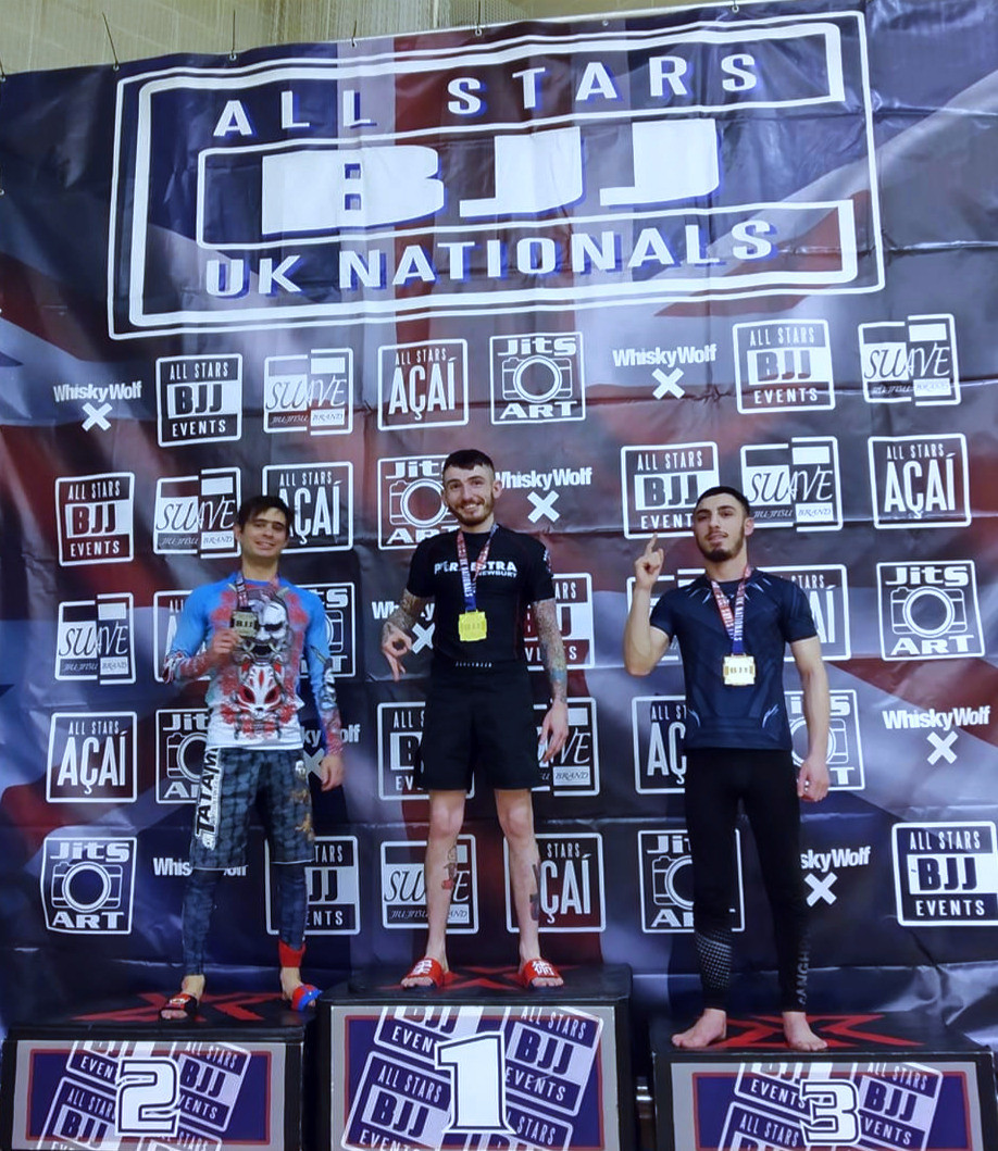 I took second place in the BJJ UK Nationals competition and took home a silver medal.