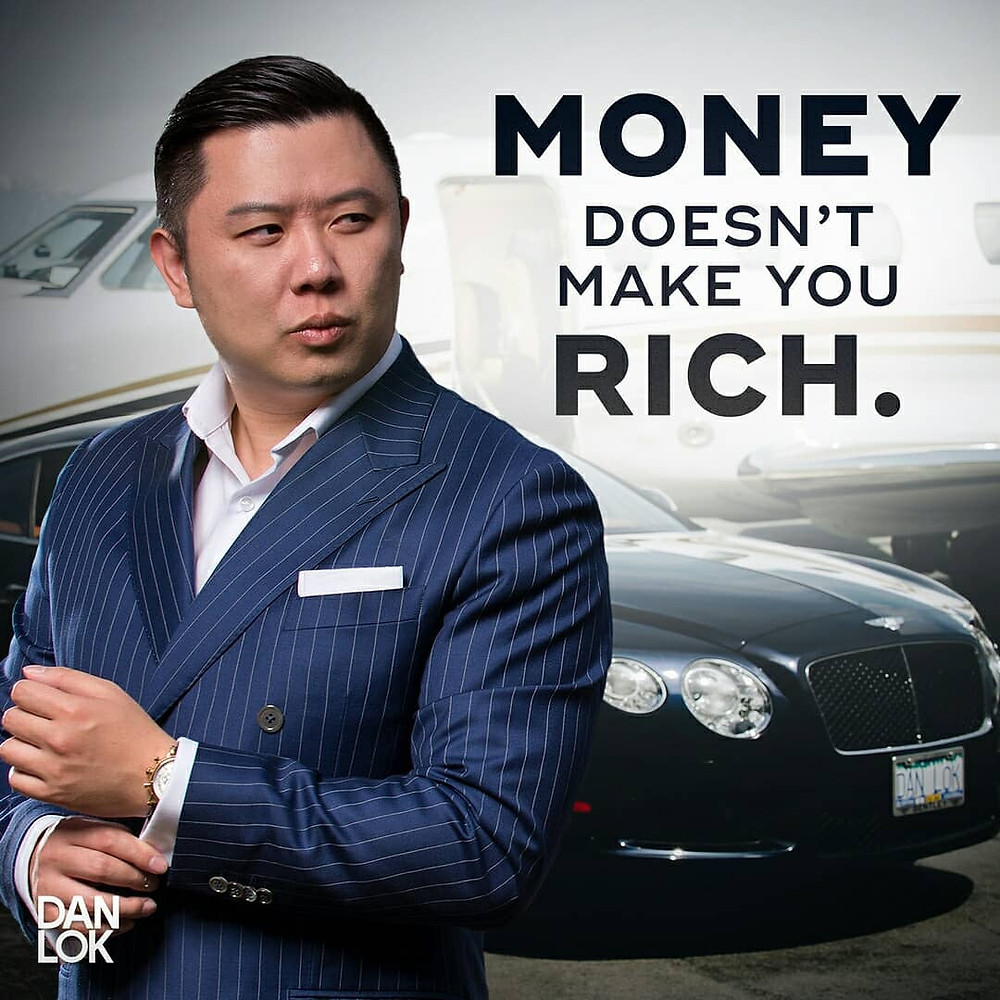 Dan Lok has suits and jets and cars.