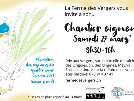 27 mars 2021: Venez planter les oignons du quartier!