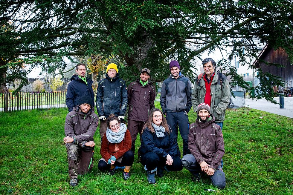 équipe de la ferme des Vergers