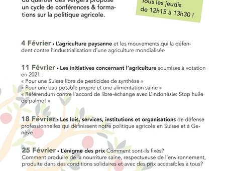 Les conférences de la Ferme des Vergers, ça commence en février!