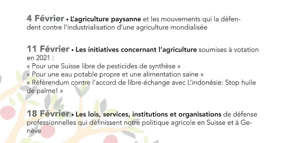 Cycle de conférences sur la politique agricole