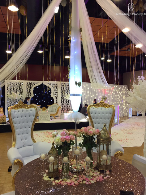 Table d'honneur mariage oriental