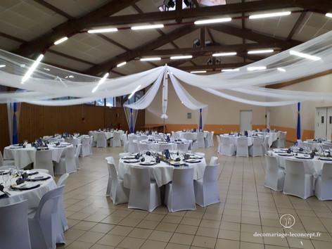 Décoration mariage de la salle des fêtes de contamine sarzin 74