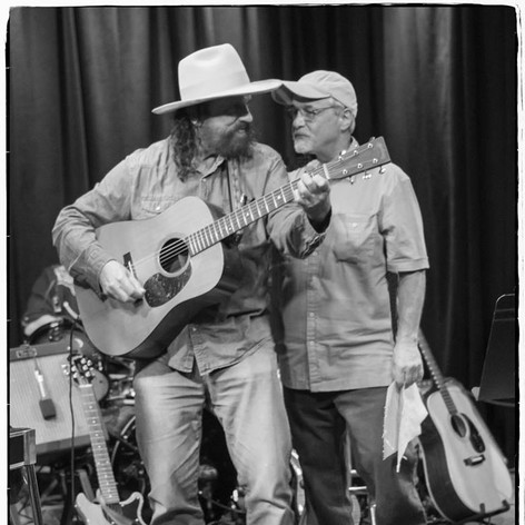 """The great songwriter Mike Beck and I performing at the Kuumbwa tribute to Larry Hosford. I sang """"Salinas"""""""