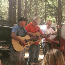 Beans ~ Slade & WC Slim at Annett's Mono Village Campground performing for our breakfast.