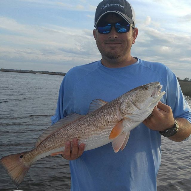 The wind was gusting and the bays was capping, but it didn't keep the reds from eating today. My you