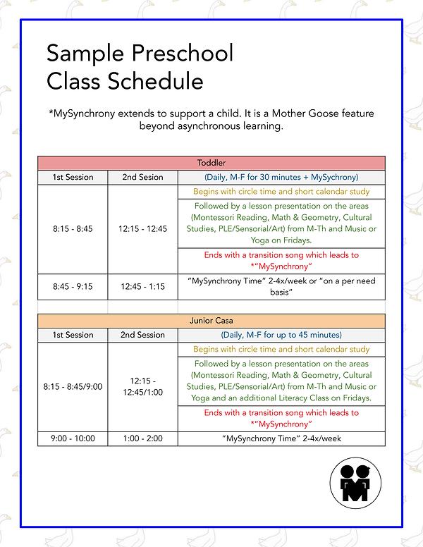 MGP Lipa Schedule 2020-2021 Toddler, JC,