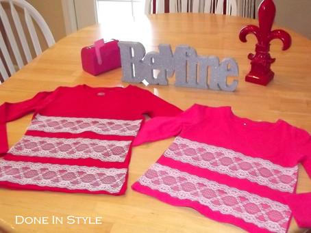 DIY Valentine's Day Shirts