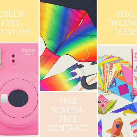 30+ Screen-Free Activities - keeping kids, tweens and teens engaged this summer
