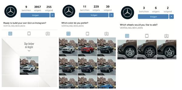 Customize je eigen Mercedes GLA op Insta