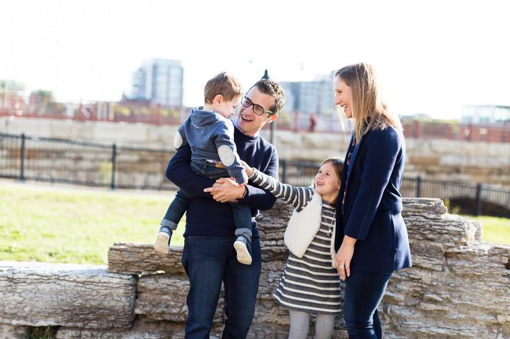 The Frank Family: Stone Arch Bridge, Minneapolis