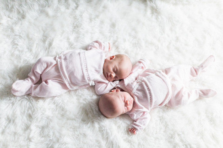 The Hamman Family: Newborn Identical Twins